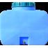 Емкость горизонтальная прямоугольная 400 литров